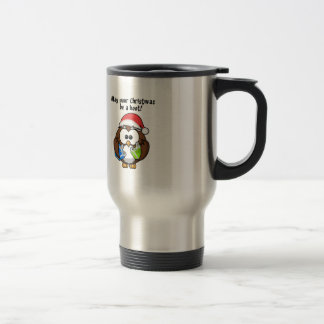 Santa Christmas Owl Travel Mug