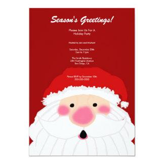 """Santa Christmas Party Invitation 5"""" X 7"""" Invitation Card"""