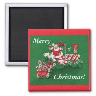 Santa Christmas Train Magnet