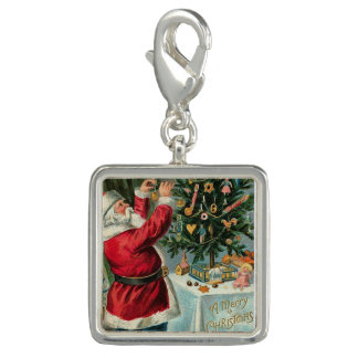 Santa Christmas Tree Victorian Antique Toys Photo Charms