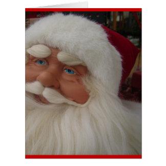 Santa Christmas Winter December Peace Love Destiny Big Greeting Card