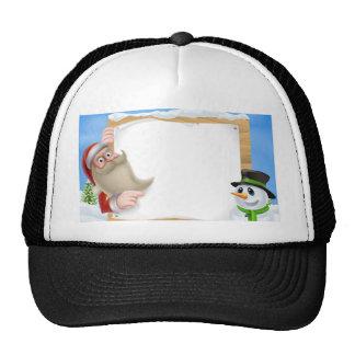 Santa Christmas Winter Scene Trucker Hat