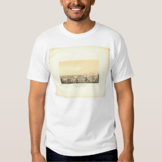 Santa Clara, CA. Panoramic Map 1856 (1585A) T-shirts