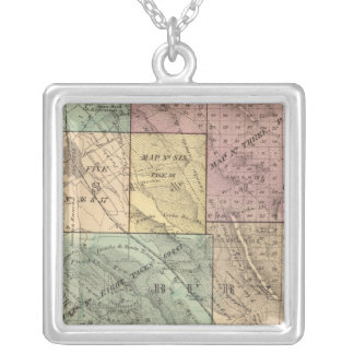 Santa Clara Co index map Silver Plated Necklace