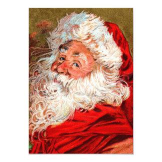 Santa Claus 13 Cm X 18 Cm Invitation Card
