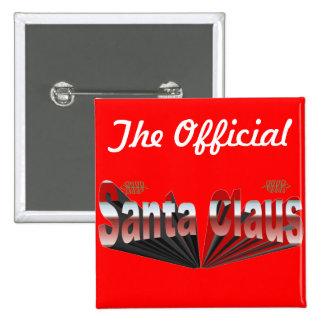 Santa Claus 15 Cm Square Badge