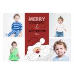 Santa Claus 4-Photo 5x7 Christmas Card