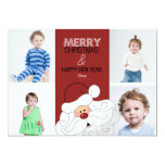 Santa Claus 4-Photo 5x7 Christmas Card Invitation