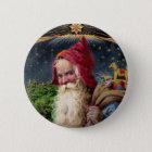 Santa Claus 6 Cm Round Badge