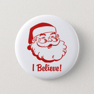 Santa Claus 6 Cm Round Badge