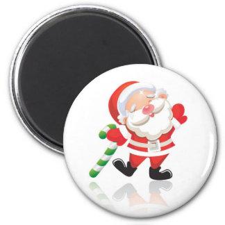 Santa Claus 6 Cm Round Magnet