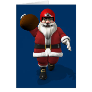 Santa Claus American Football Player Card