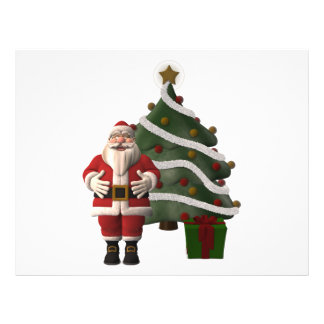 Santa Claus and a Christmas tree 21.5 Cm X 28 Cm Flyer