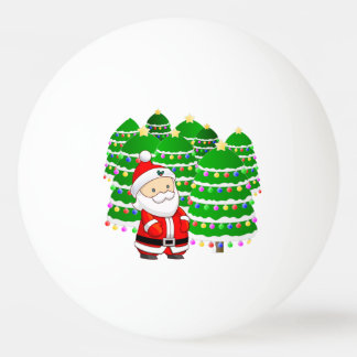 Santa Claus and Christmas Tree Lot Ping Pong Ball