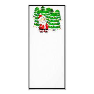 Santa Claus and Christmas Tree Lot Rack Cards