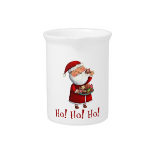 Santa Claus and Cookies Pitcher