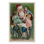 """Santa Claus and Four Children"" Poster"