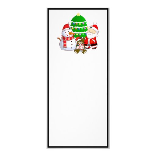 Santa Claus and Friends Rack Card Design