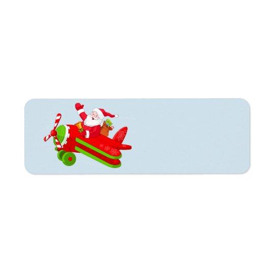 Santa Claus and his aeroplane