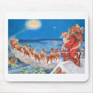 Santa Claus and his Mighty Reindeer Mouse Mat