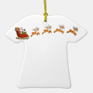 Santa Claus And His Reindeer Ornaments