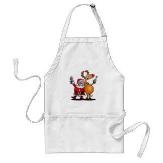 Santa Claus and his Reindeer Standard Apron