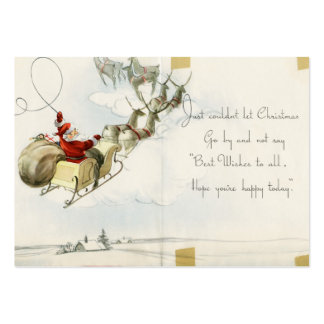 Santa Claus and his reindeer vintage illustration Business Card Template