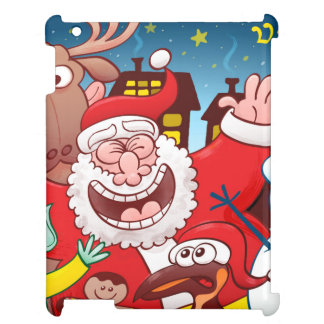 Santa Claus and his team are ready for Christmas Case For The iPad