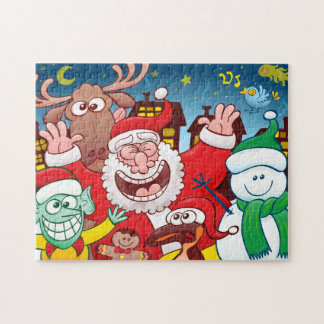 Santa Claus and his team are ready for Christmas Jigsaw Puzzle