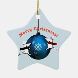 Santa Claus and Rats Christmas Ornament