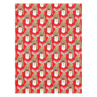 Santa Claus And Reindeer Design Tablecloth