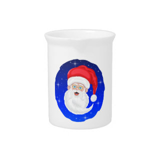 Santa Claus and Stars Pitcher