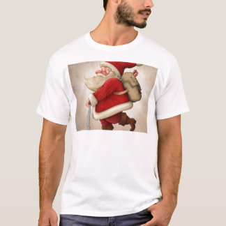 Santa Claus and the Push scooter T-Shirt