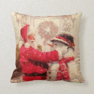 Santa Claus and The Snowman Christmas Cushion