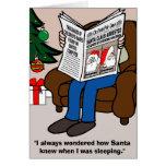 Santa Claus Arrested Christmas Card