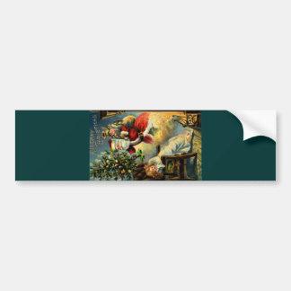 Santa Claus Arrives Bumper Sticker
