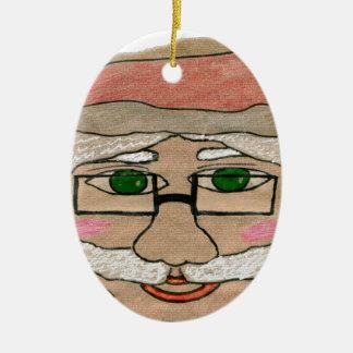 Santa Claus Art Christmas Ornament