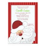 SANTA CLAUS Baby Shower Christmas Invitation 13 Cm X 18 Cm Invitation Card