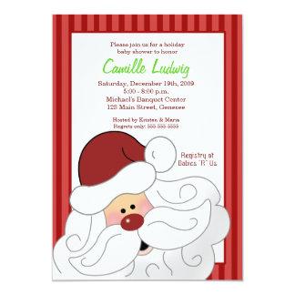 "SANTA CLAUS Baby Shower Christmas Invitation 5"" X 7"" Invitation Card"