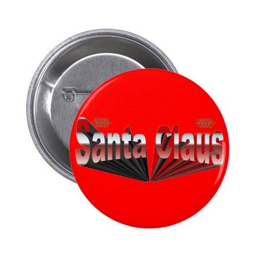Santa Claus Pinback Button