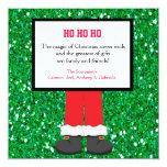 Santa Claus Boots Christmas Card Custom Invitations