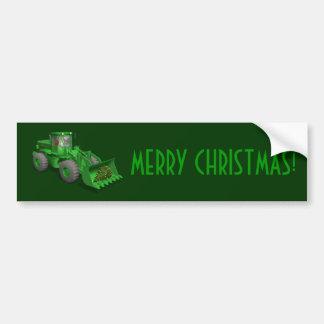 Santa Claus Bulldozer Operator Bumper Sticker