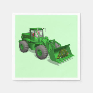 Santa Claus Bulldozer Operator Paper Napkin