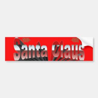 Santa Claus Car Bumper Sticker