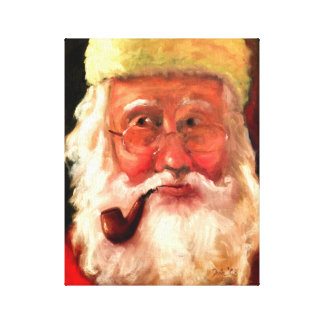 Santa Claus by Tula Holmes Canvas Print