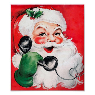 Santa Claus Calling Poster