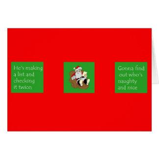 """""""Santa Claus"""" card"""