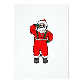Santa Claus cartoon Customized Announcement Cards