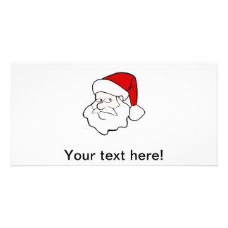 Santa Claus cartoon Photo Card Template