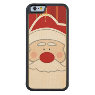 Santa Claus Carved Maple iPhone 6 Bumper Case